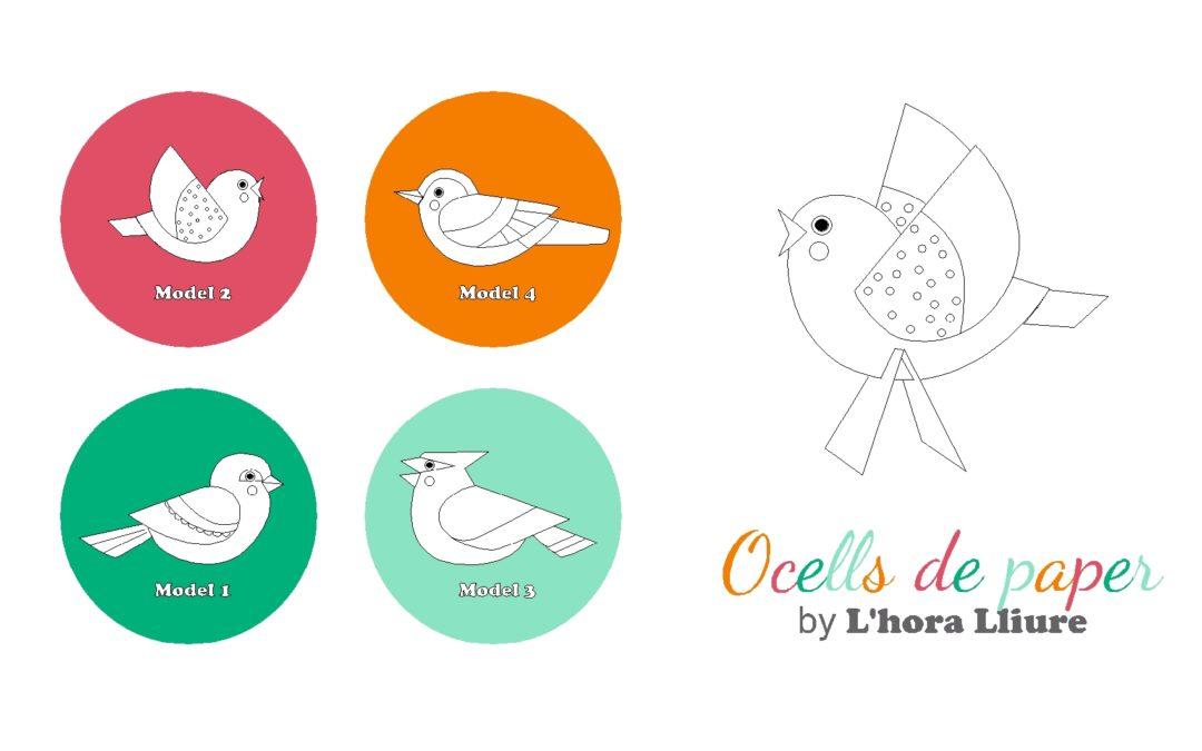 Manualitats infantils: Ocells de paper