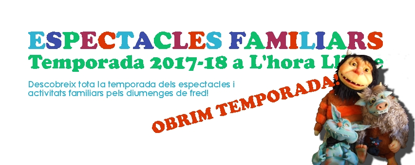 Cartell temporada espectacles familiars 2017-18